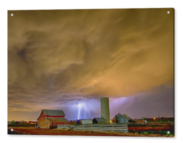 Thunderstorm Hunkering Down On The Farm Acrylic Print