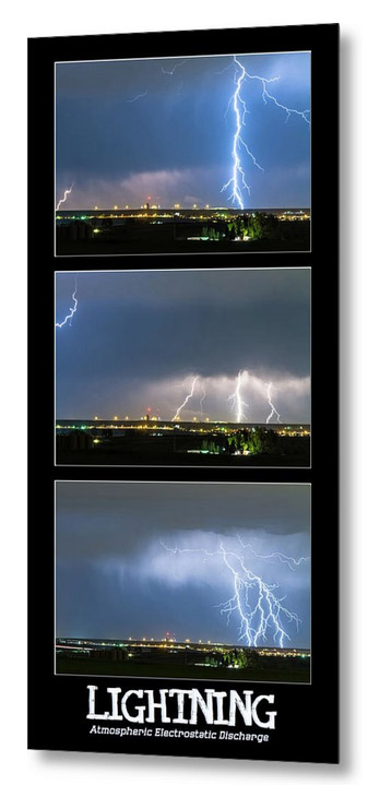 Lightning - Atmospheric Electrostatic Discharge Metal Print