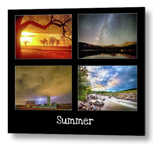 Summer Season Metal Art Print