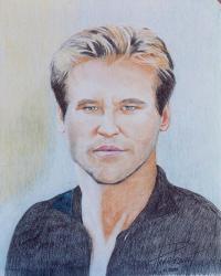 fineartamerica com tags val kilmer hand drawm portrait ...