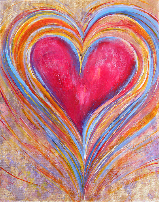 Free Fall Wallpaper For Iphone Happy Dancing Heart Painting By Samantha Lockwood