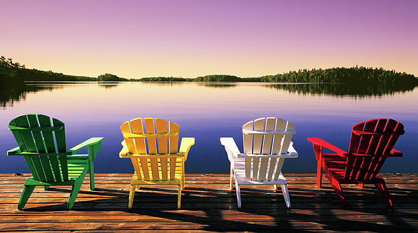 Fall Scene Wallpaper For Iphone Muskoka Chairs Photograph By John Bartosik