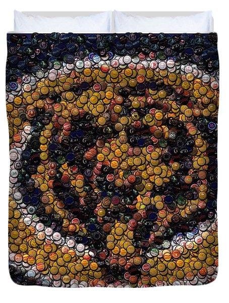 chicago bears bottle cap mosaic digital art by paul van scott