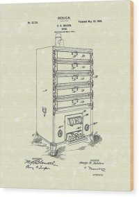 Oven Design 1900 Patent Art Drawing by Prior Art Design