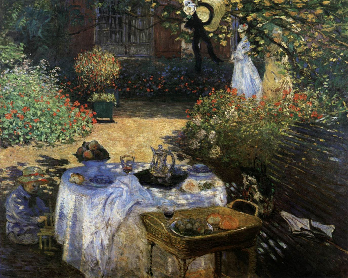 Photo Argenteuil The Luncheon Monet S Garden At Argenteuil Claude Monet Fine