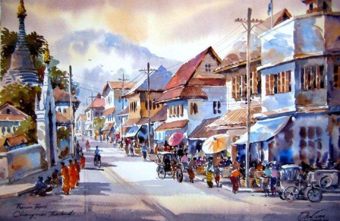street-watercolor