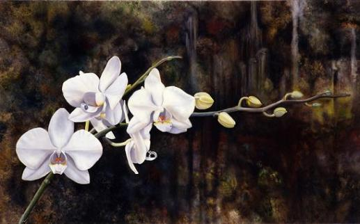 white-orchid-painting