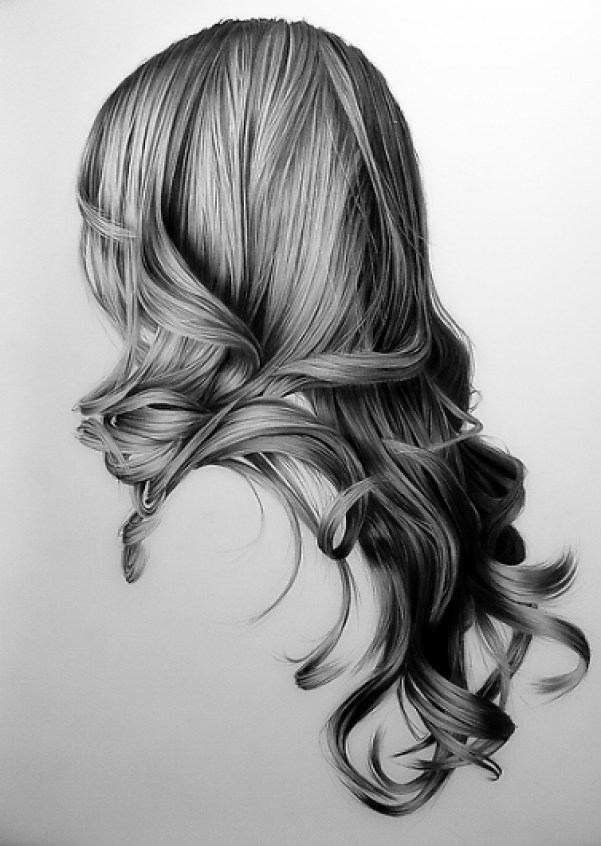 Pencil-Drawings-of-Hair