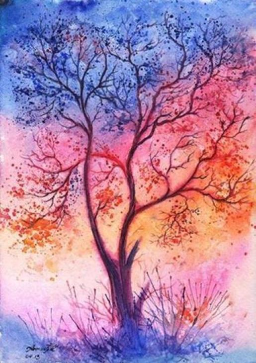 watercolor-tree-paintings
