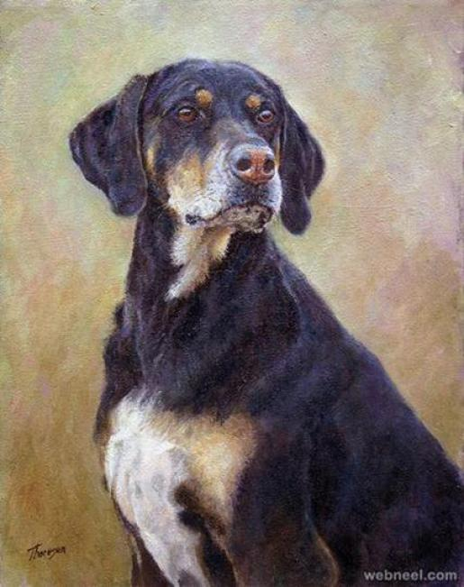 oil-painting-dog