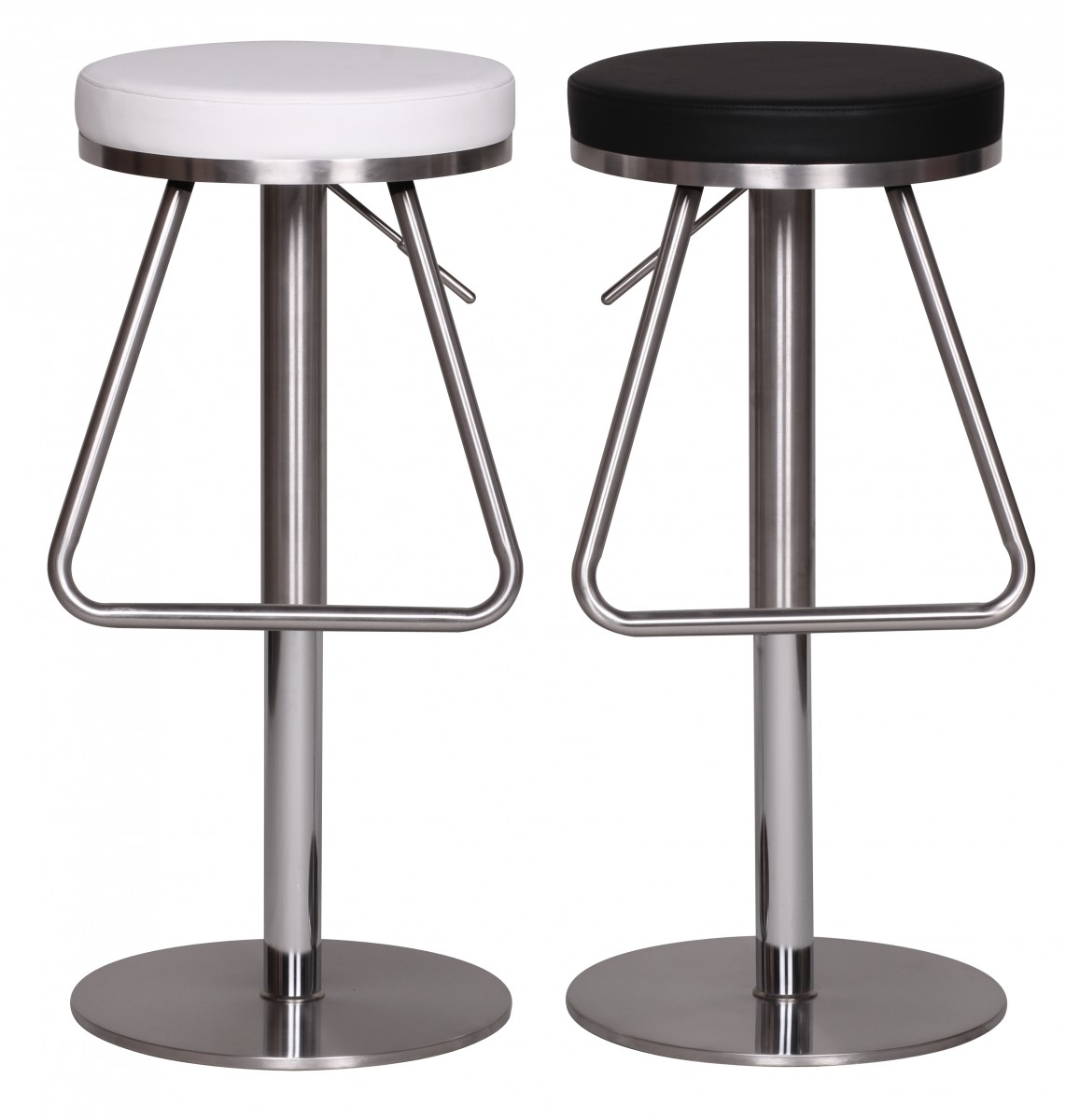 Stainless Bar Stools Bar Stool Stainless Steel Brushed Faux Leather Swivel