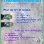 A Treadmill Workout, when it's too damn cold to run outside