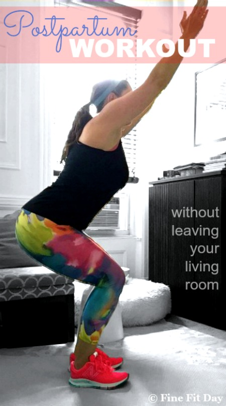 Postpartum workout without leaving your living room for Living room exercises