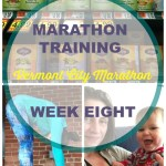 Vermont City Marathon Training - Week 8. Training log with workouts, goals and hopes for the VCM on May 29, 2016! Follow along to see if this mother runner can come back strong with a PR after her second child.