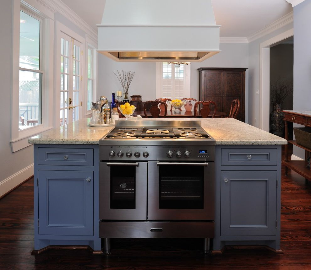 Kitchen Island With Range Best Induction Range For Traditional Kitchen Also Baseboards Blue
