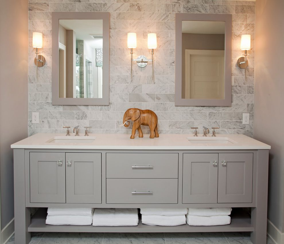 Trim Bathroom Mirror How To Find Square Feet Beach Style Bathroom And Baseboards