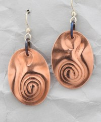 Handcrafted Copper Curvaceous Earrings  Finely Found Designs