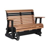 Double Plain Glider   Patio Furniture   Fine Oak Things