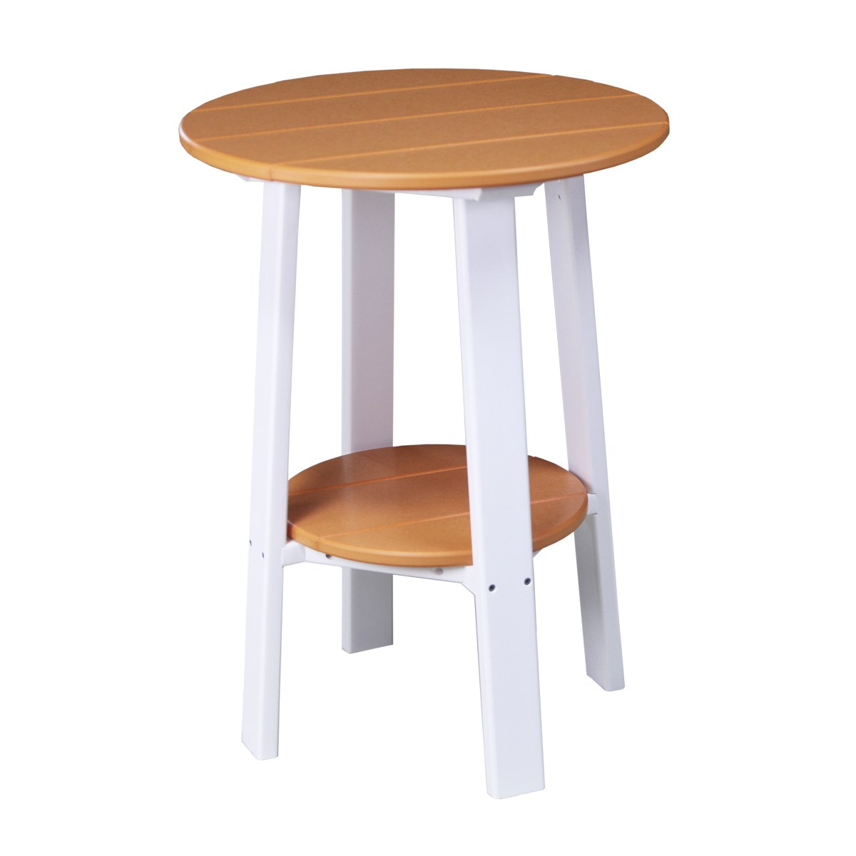 Tall White End Table Tall Deluxe End Table Recycled Patio Fine Oak Things