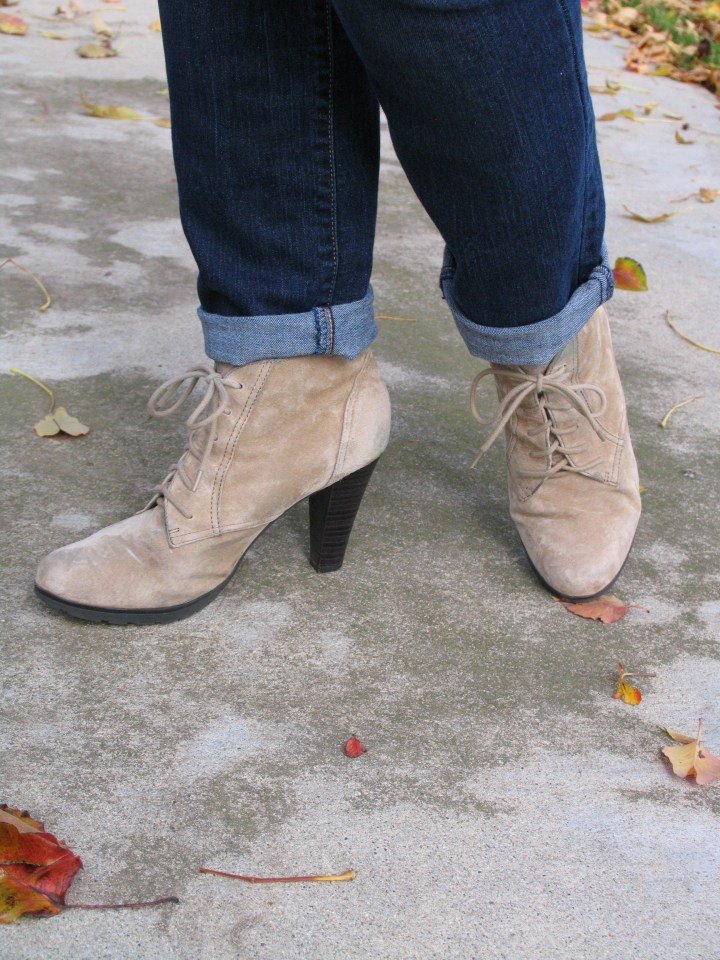 A close-up of the booties