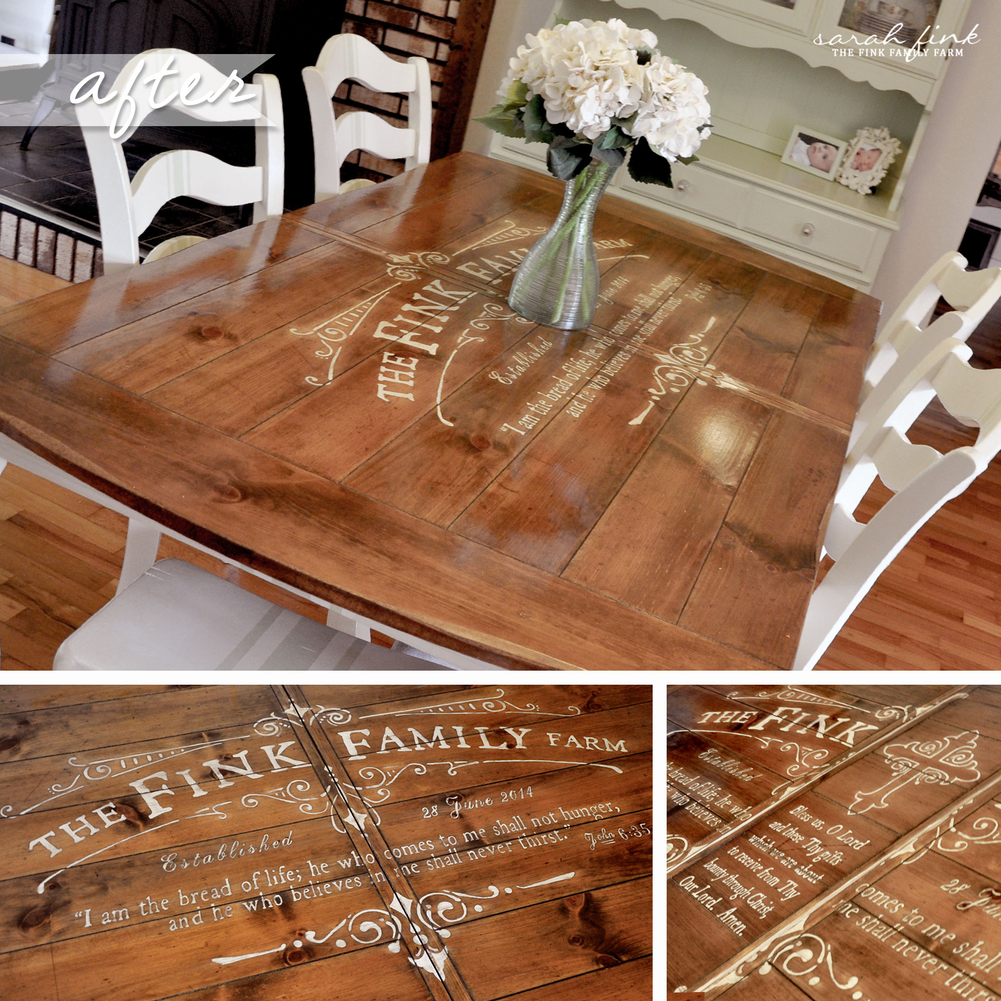 Building A Dining Room Table With Leaves Gathering For Dinner Around A Custom Stenciled Dining Room