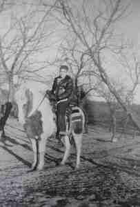 Rick Corn on horseback