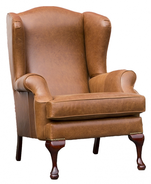 Leather Queen Anne Leather Sofas And Chairs Range - Leather Queen Chair