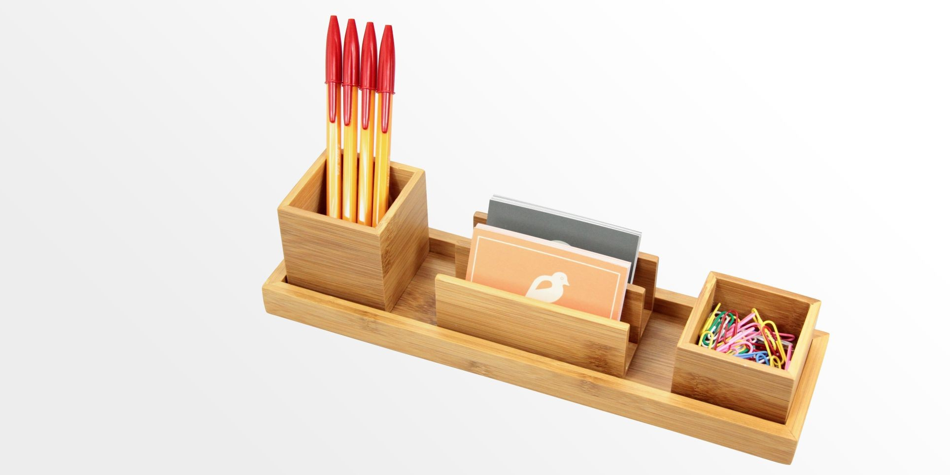 Desk Organiser Stationery Desk Organiser Set Of 4 Pcs Bamboo Stationery Organiser