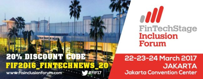 "20% Discount Code: ""FIF2016_FINTECHNEWS_20"". Register NOW!"