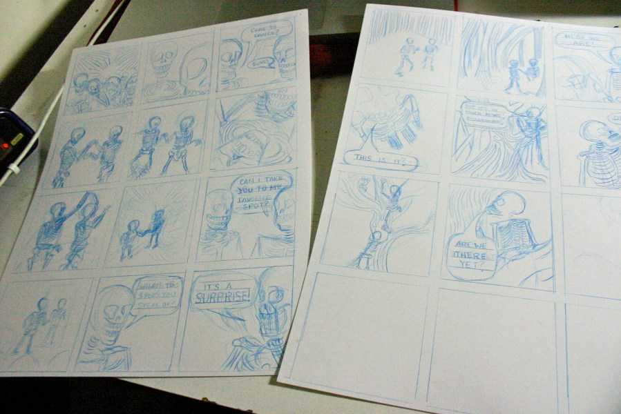 Gridlords anthology comic, in progress.