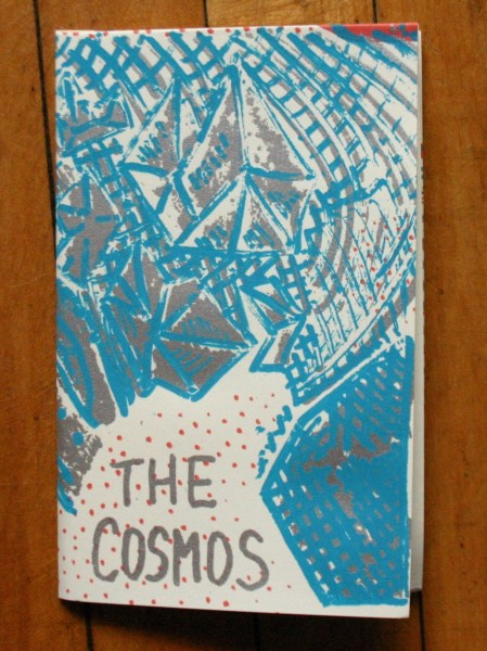 The Cosmos, three color folded screenprinted comic, 2016.
