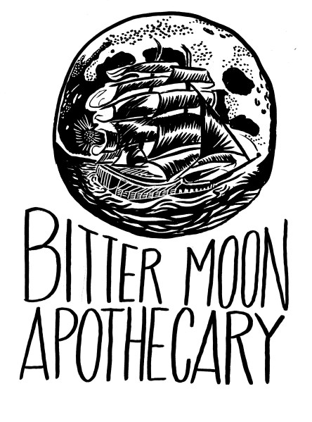 Label for Bitter Moon Apothecary, December 2016