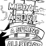 Art for Gold Medal A Go Go spring alleycat series.