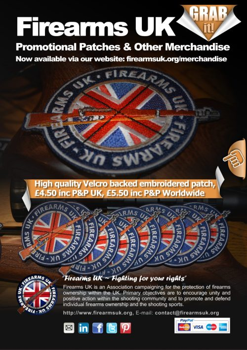 Firearms UK promotional merchandise poster in full colour