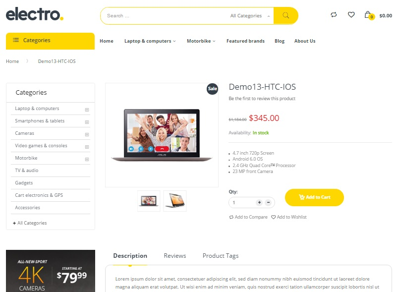 Electro Magento 2 Theme Review FireBear - product review template
