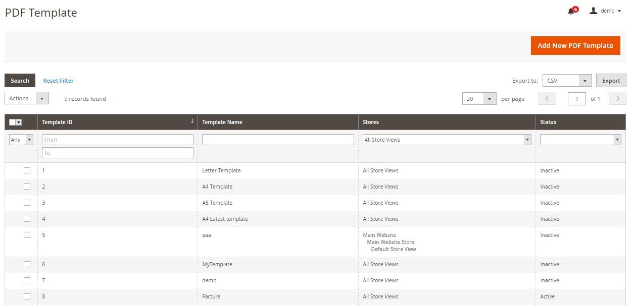 Magento 2 Custom PDF Invoices FireBear - pdf invoices