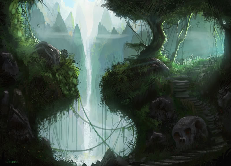 Mystical Creatures In The Fall Wallpaper The Best Collection Of Fantasy Jungle Art Fire In The