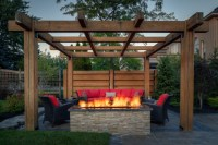 Outdoor Fire Pit Designs Under Pergola - OUTDOOR FIRE PITS ...