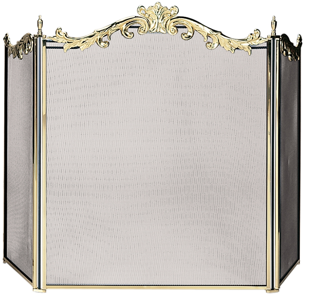Brass Fireplace Screen Uniflame 3 Panel Fully Cast Solid Brass Fireplace Screen