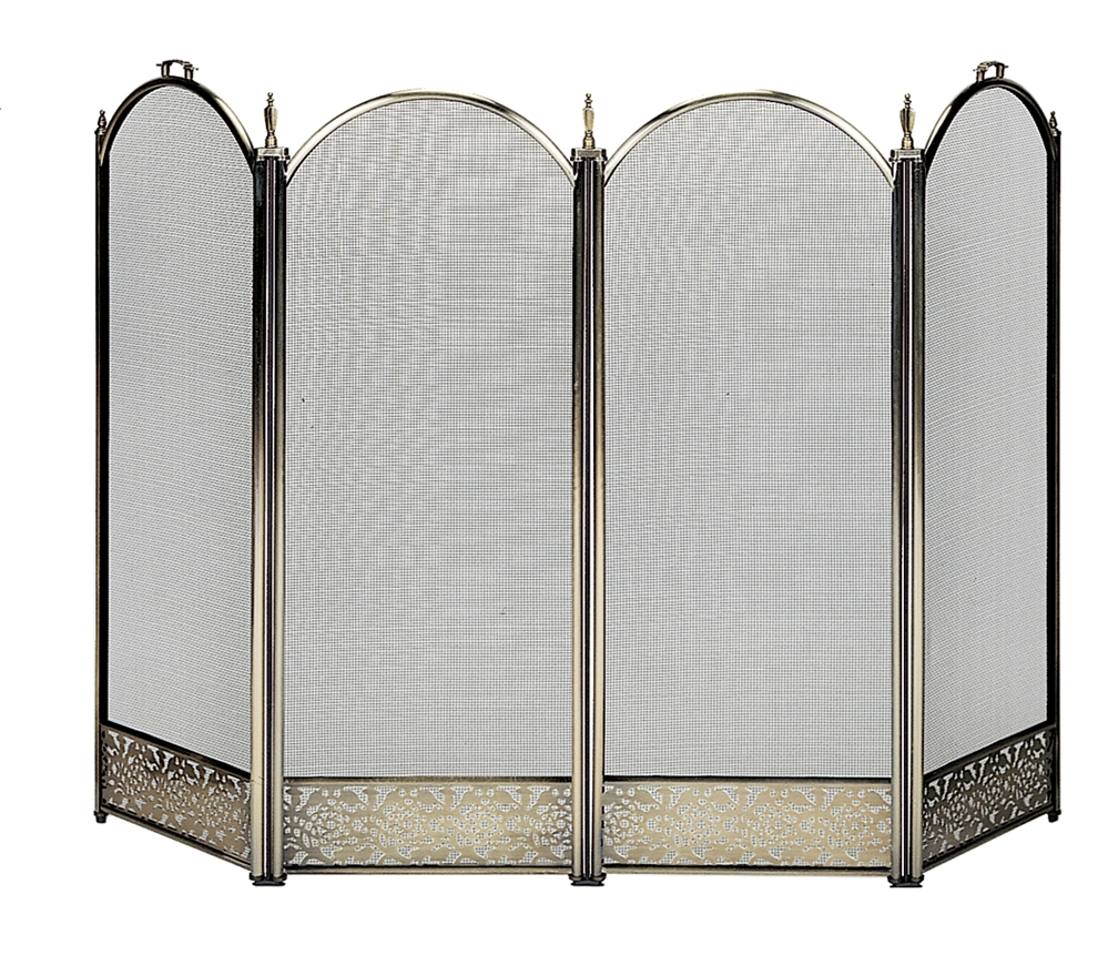 Brass Fireplace Screen Uniflame Specialty Line 4 Fold Polished Antique Fireplace Screen With Decorative Filigree