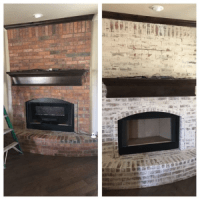 Before /After Pictures of Painted Brick Fireplaces ...