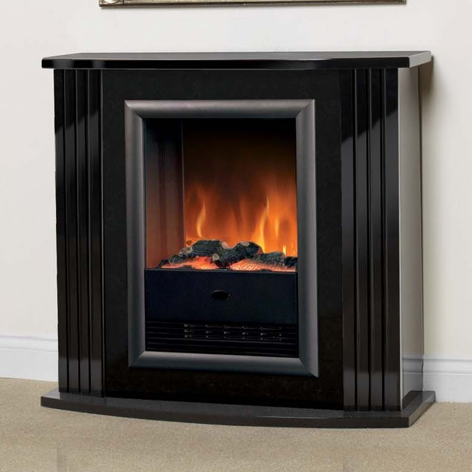 Electric Fireplaces Dimplex Luxury Dimplex Mozart Gloss Black Optiflame Electric