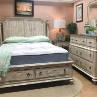Weathered Rustic Bedroom Set Made of solid New Zealand pine