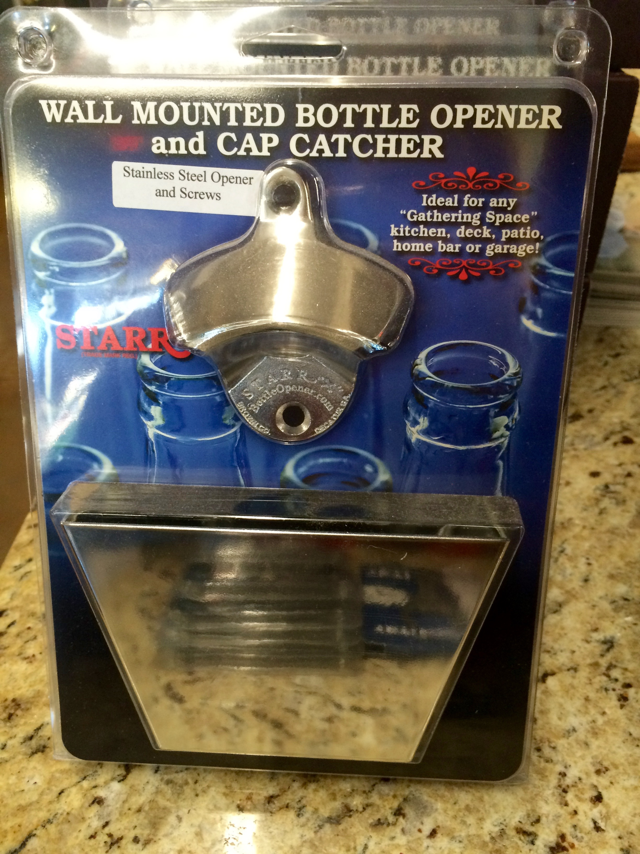 Wall Mounted Beer Opener And Catcher Starr Wall Mounted Bottle Opener And Cap Catcher