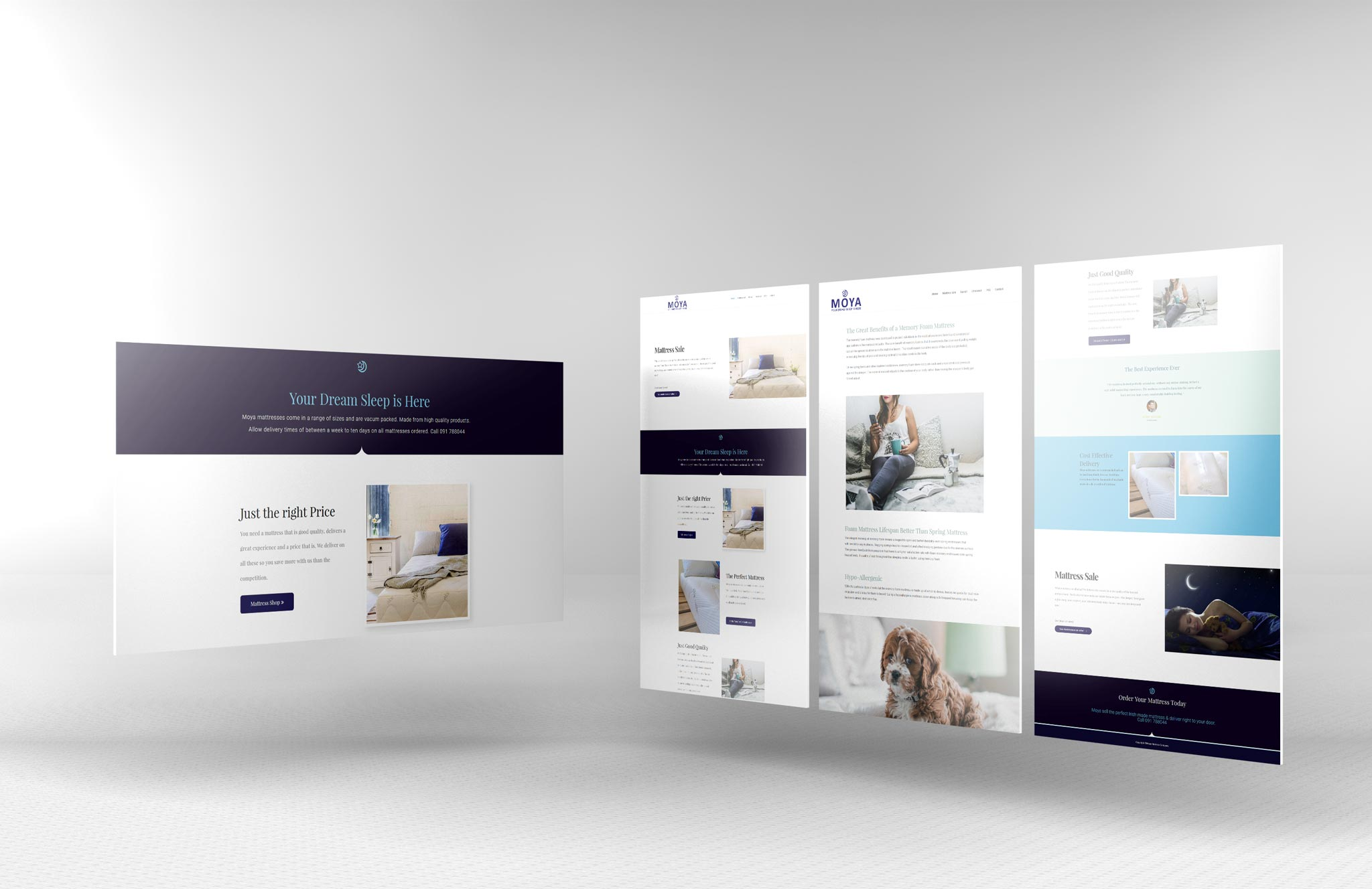 The Mattress Company Website Design Development Studio Based In Galway