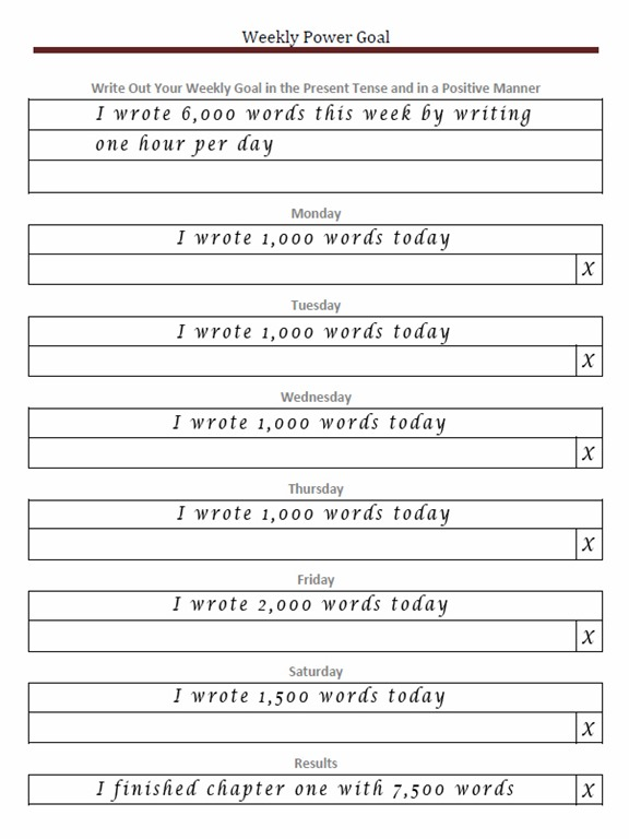 Weekly Goal Setting Worksheet Keep Your Goal Top Of Mind