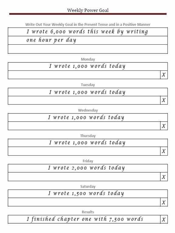weekly goals template - Onwebioinnovate - goal setting templates