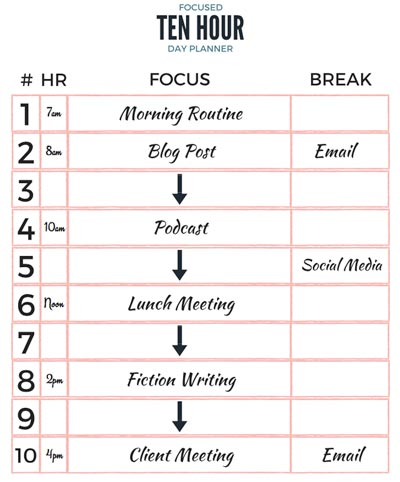 Ten Hour Daily Planner The Flexible Way To Track Your Workday - day planner