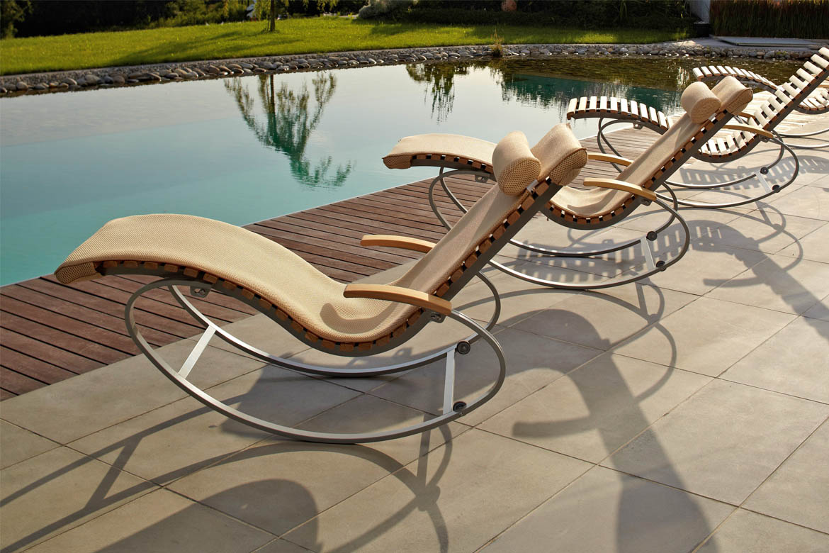 Holz Sonnenliege Wellnessliege Siesta Pur Outdoor - First-class-holz