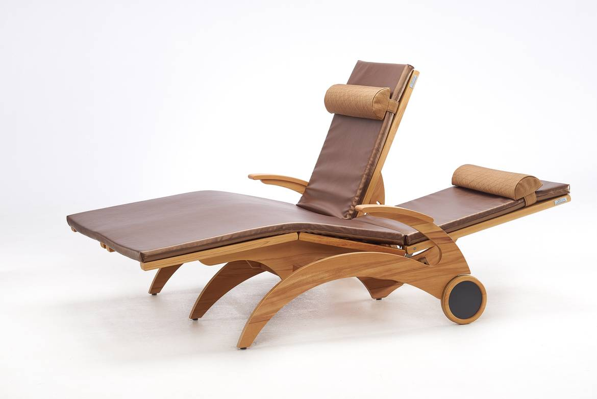 Wellnessliege Siesta Wellnessliege Siesta Stabil Natur Duo First Class Holz